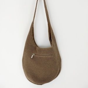 The Sak Woven Knit Crochet Hobo Shoulder Bag